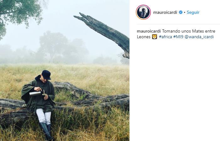 Mauro Icardi disfruta de sus vacaciones en África (Foto: Instagram)