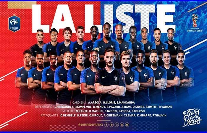 Selección de Francia. Foto: Twitter
