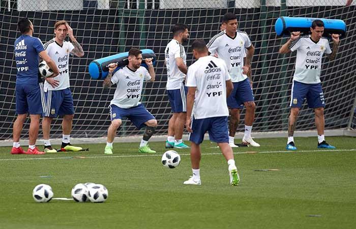 La Selección Argentina tendría 11 definido para el partido ante Israel. (FOTO: EFE)