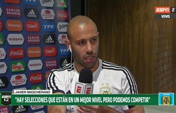 """Javier Mascherano: """"Iniciado el Mundial se terminan lo favoritos"""""""