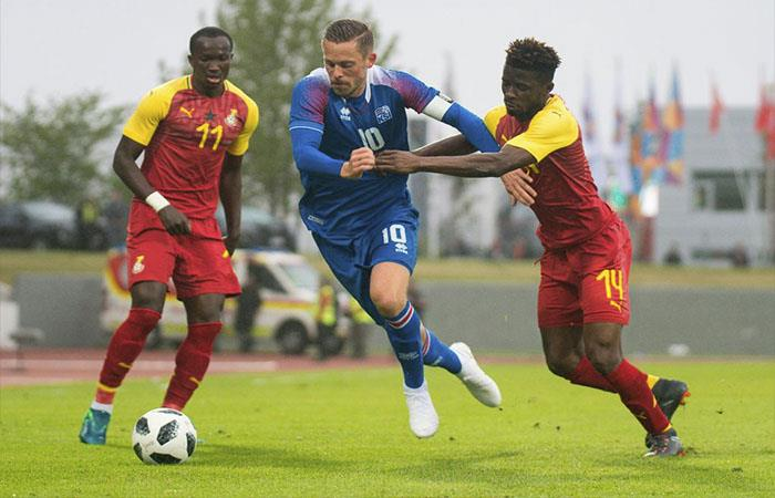 Islandia igualó 2-2 ante Ghana (Foto: Twitter)