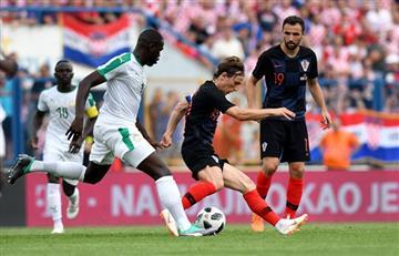 Croacia derrotó a Senegal en su último amistoso previo al Mundial de Rusia