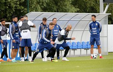 Selección Argentina: doble entrenamiento centrado en la táctica