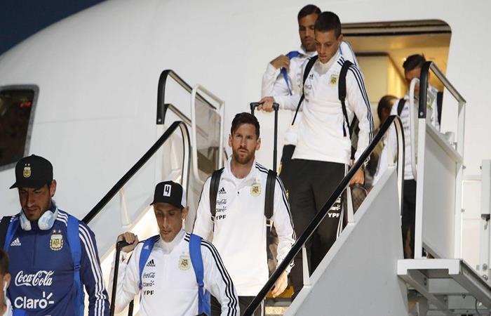 La llegada de la Selección Argentina a Rusia. (FOTO: Twitter)