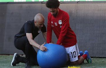 Mohamed Salah estaría apto para el debut ante Uruguay, según Héctor Cúper