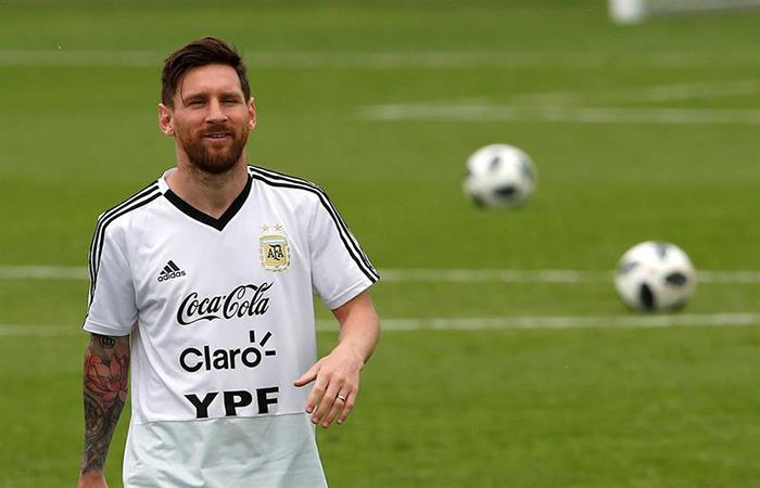 Lionel Messi, la esperanza argentina en el Mundial. Foto: EFE