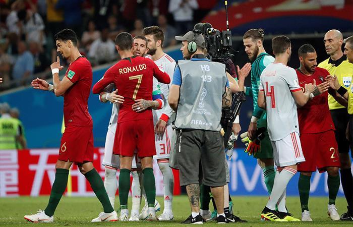 Portugal igualó 3-3 ante España (Foto: EFE)
