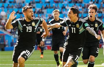 Argentina vs Islandia: así fue el primer gol de Sergio Agüero en los mundiales