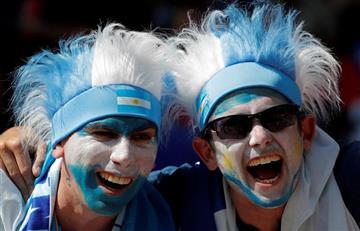 Argentina vs Islandia: hinchas argentinos pintan de 'Albiceleste' todo Moscú