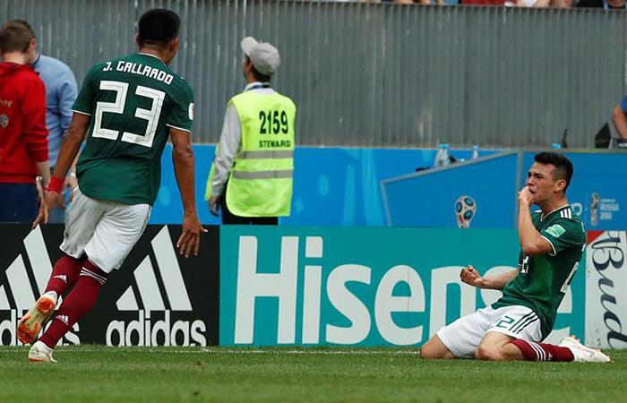 México le gana a Alemania con este golazo. (FOTO: EFE)