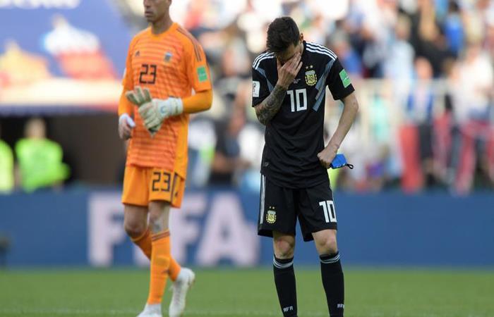 Lionel Messi tuvo un partido para el olvido ante Islandia. (FOTO: AFP)