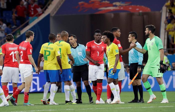 Brasil empató 1-1 ante Suiza. Foto: EFE