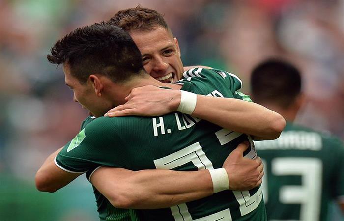 México derrotó a Alemania y hace historia. Foto: EFE
