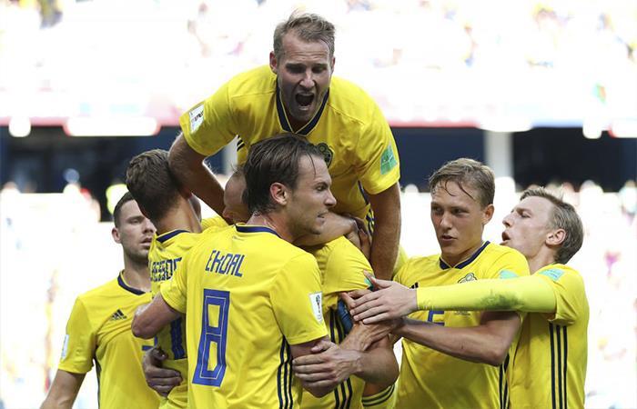 Suecia derrotó 1-0 a Corea del Sur (Foto: Twitter)