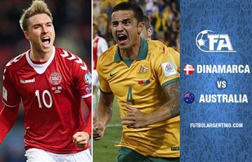 Dinamarca vs Australia EN VIVO ONLINE por el Grupo C del Mundial