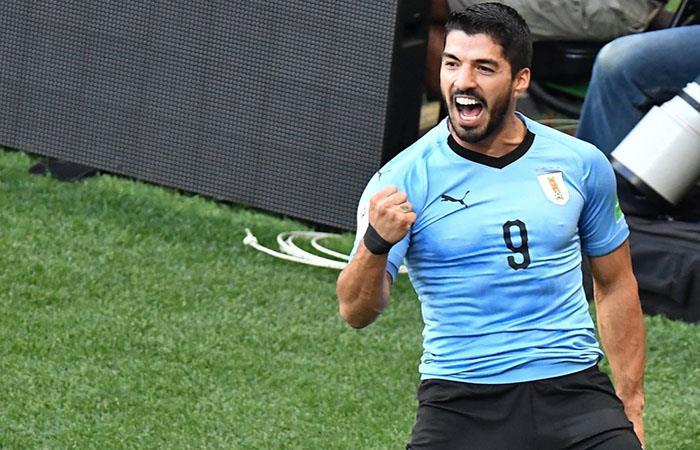 Luis Suárez en el triunfo de la 'Celeste'. (FOTO: EFE)
