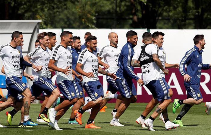 Los once de la Selección Argentina. Foto: EFE