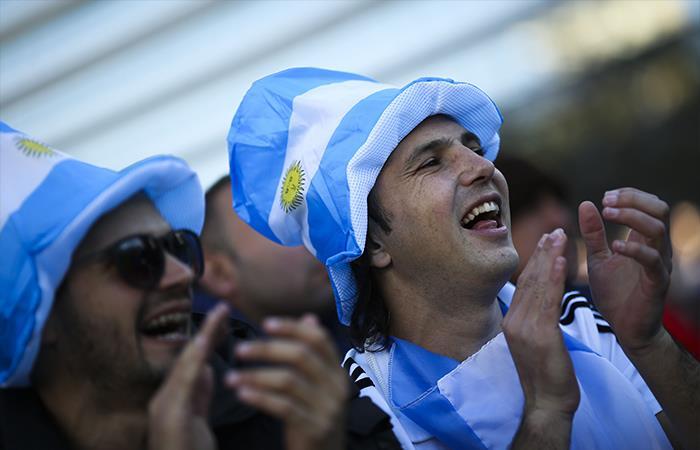 Hinchada argentina. Foto: EFE