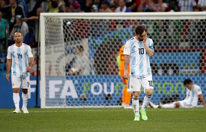 Croacia venció 3-0 a Argentina. Foto: EFE