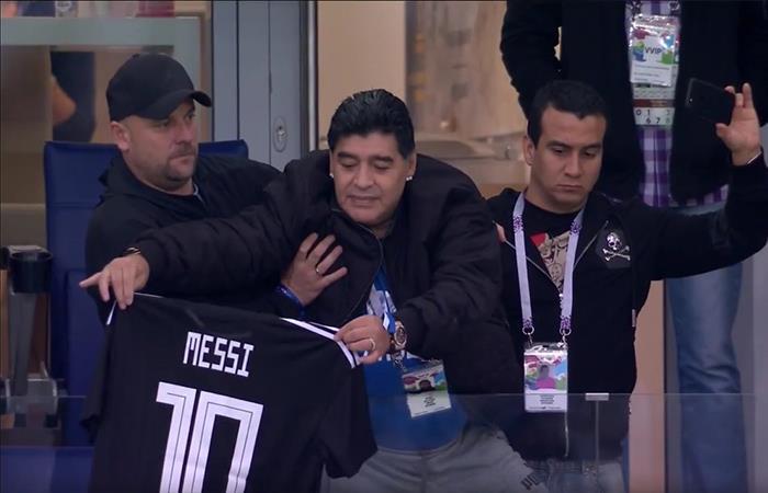 Diego Maradona: 'al mejor del mundo hay que bancarlo'