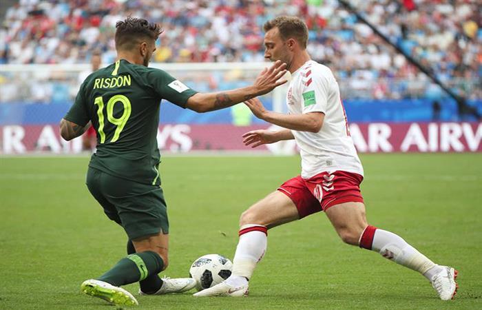 Dinamarca y Australia igualaron 1-1. Foto: EFE