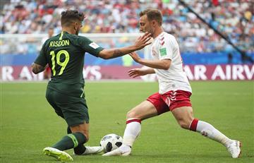 Dinamarca igualó ante Australia y todos se mantienen con vida en el Grupo B del Mundial