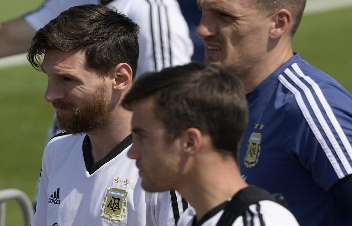 La Argentina se entrena pensando en Nigeria. Foto: AFP