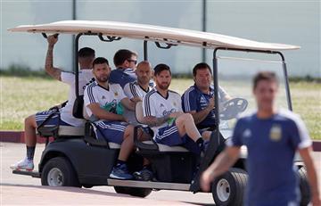 Selección Argentina: el entrenamiento en el cumpleaños de Lionel Messi