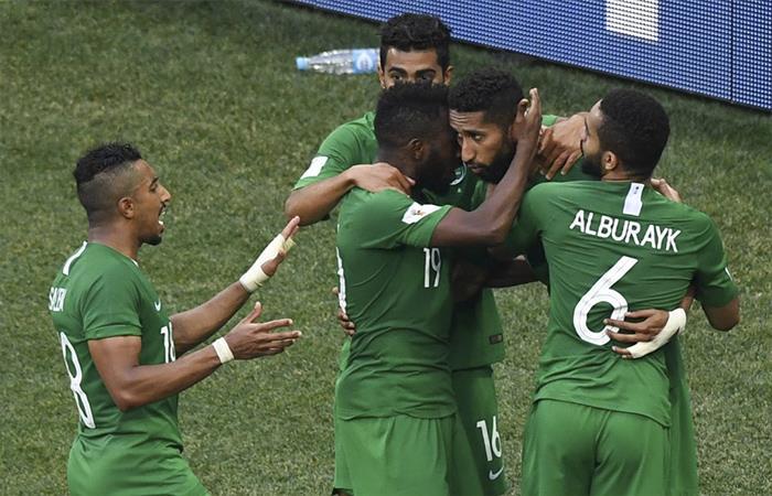 Arabia Saudita venció 2-1 a Egipto (Foto: Twitter)