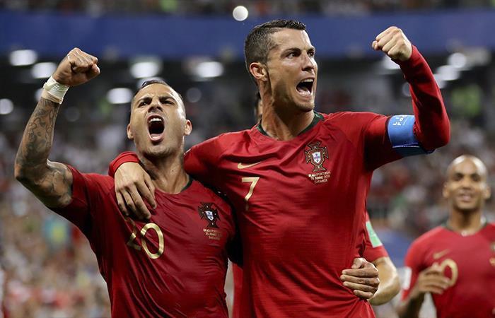 Portugal igualó 1-1 ante Irán (Foto: Twitter)