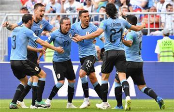 Uruguay derrotó a Rusia y se clasifica a los octavos como líder de su grupo