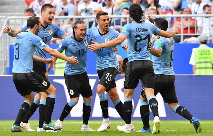 Uruguay venció 3-0 a Rusia (Foto: Twitter)