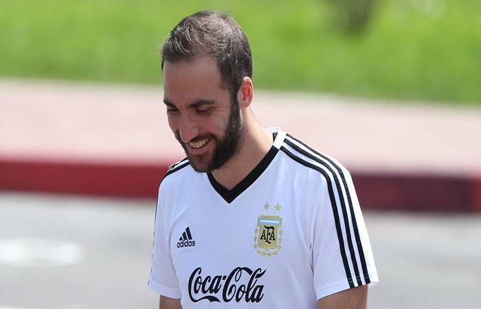 Gonzalo Higuaín será titular ante Nigeria. (FOTO: AFP)