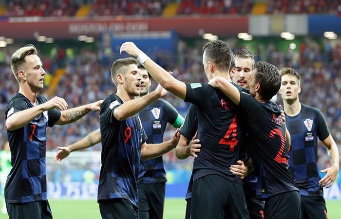 Croacia ayudó a la Argentina y consiguió un puntaje perfecto en el Mundial. Foto: EFE