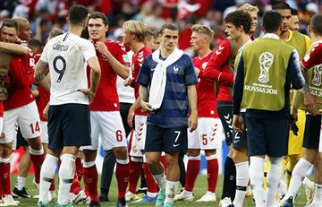 Francia logra igualar ante Dinamarca y ambos se clasifican a octavos del mundial