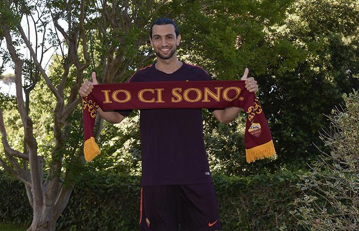 Javier Pastore fue presentado como nuevo jugador de la Roma. Foto: Twitter