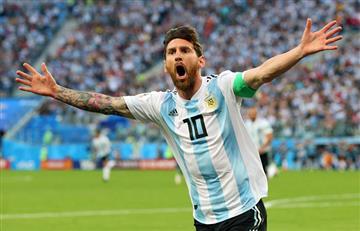 Lionel Messi marca el gol número 100 en Rusia 2018