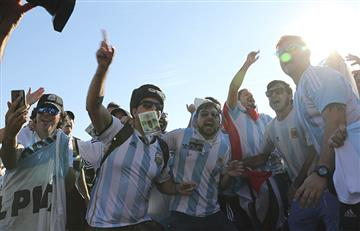 Selección Argentina: San Petersburgo pintado de celeste y blanco