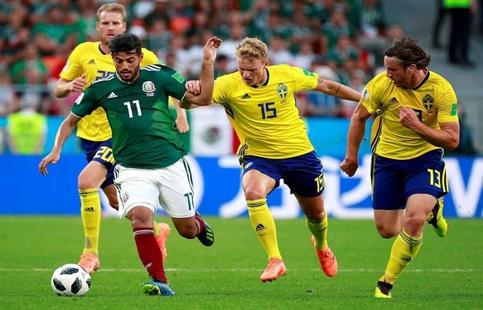 Suecia y México clasifican a los octavos de final del Mundial. Foto: EFE