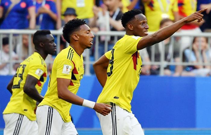 Yerry Mina anotó el único tanto del partido. (FOTO: AFP)