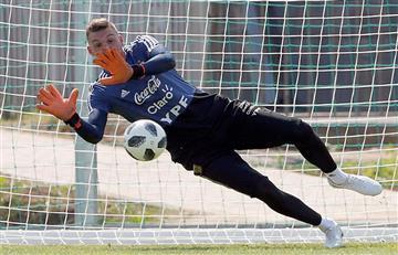 La Selección Argentina entrenó penales antes de viajar a Kazan