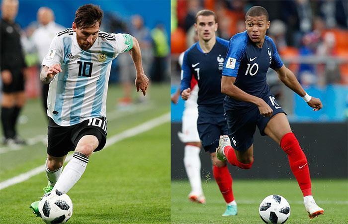 El Argentina vs Francia es uno de los mejores partidos de los octavos. (FOTO: EFE)