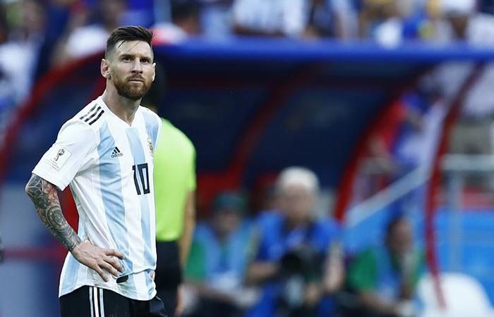 La decepción de Lionel Messi, una vez más. Foto: AFP