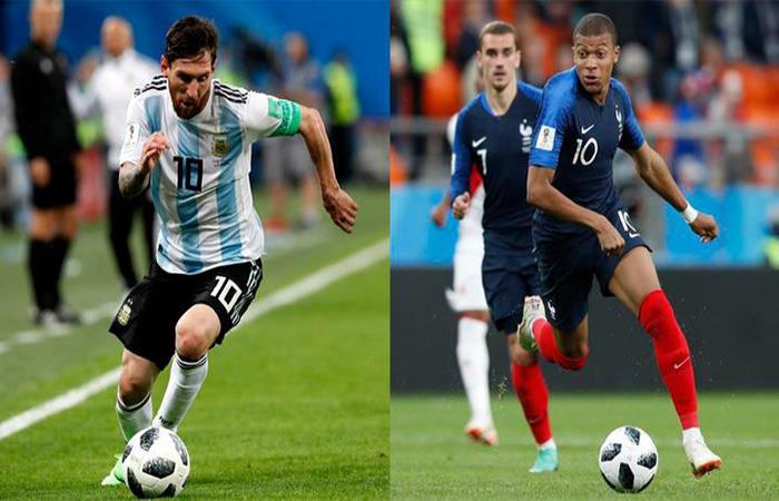 Argentina choca ante Francia en el partido de la fecha por los octavos de final del Mundial. Foto: EFE