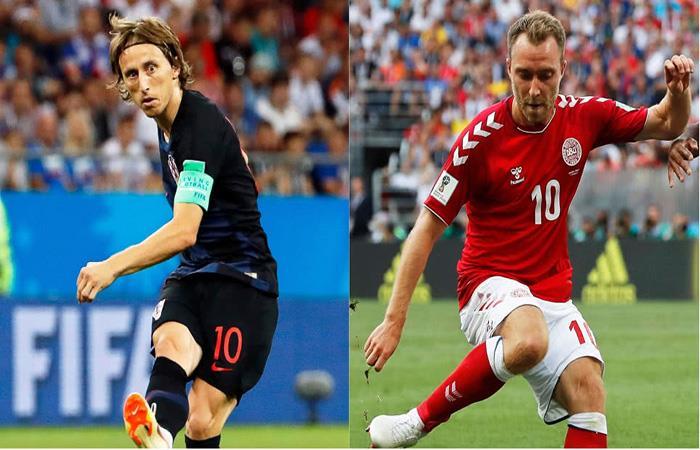Croacia y Dinamarca chocan en gran partido por octavos. (FOTO: AFP)