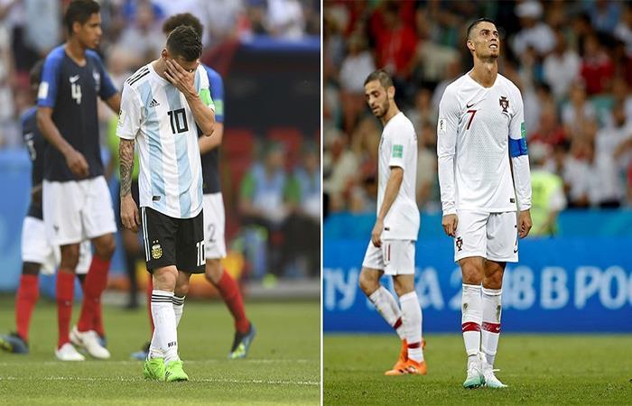 Lionel Messi y Cristiano Ronaldo quedaron fuera del Mundial. (FOTO: EFE)