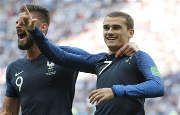 Rusia 2018: mirá como fue el gol de Francia a la Argentina