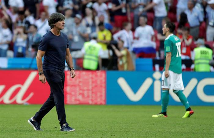 Joachim Löw tras la eliminación alemana en el Mundial. Foto: EFE