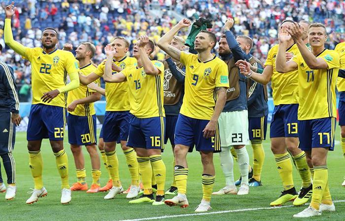 Suecia está en cuartos de final del Mundial. Foto: EFE