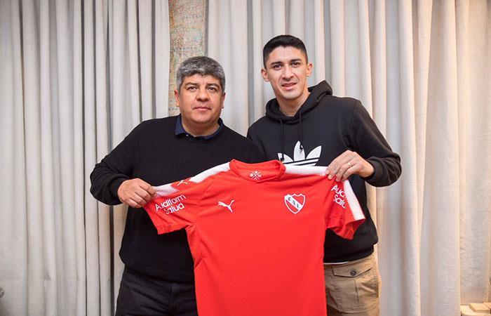 El 'Tucu' Hernández es nuevo jugador de Independienete. Foto: Twitter
